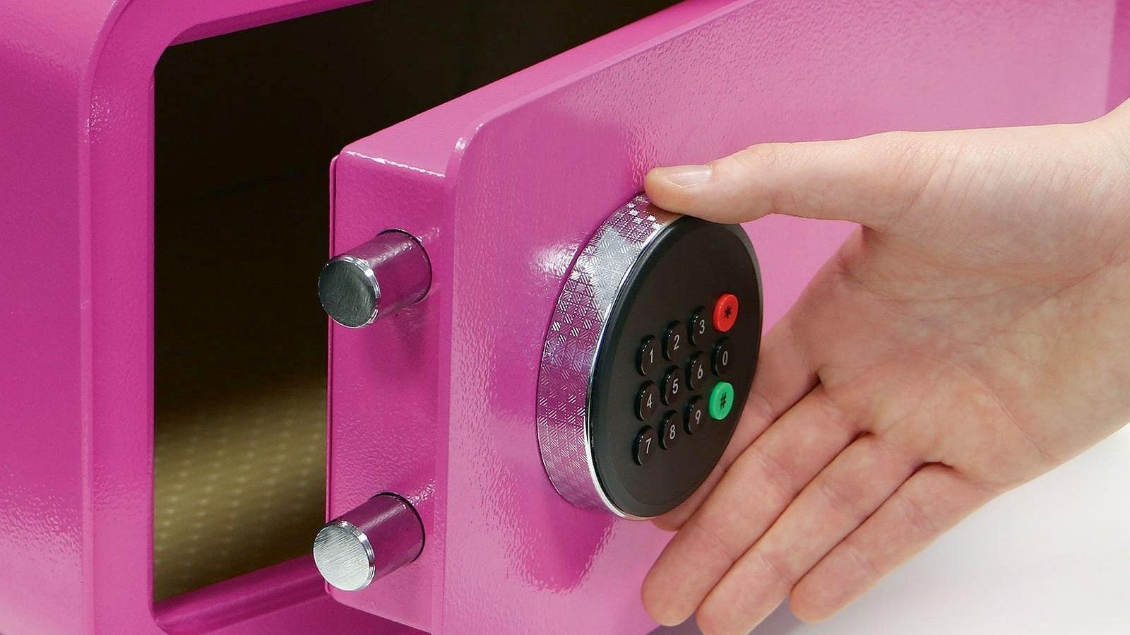 Der mySafe BASI ist insgesamt in 28 verschiedenen Ausführungen erhältlich: Zur Auswahl stehen zwei Größen, zwei Verriegelungs-Optionen (Fingerprint oder Zahlen-Code) und sieben Farben. (Foto: epr/BASI GmbH)