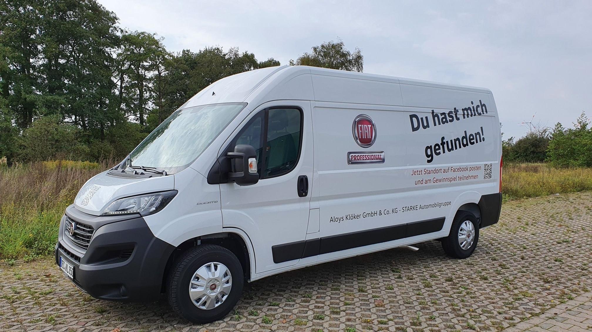 """<a href=""""https://www.facebook.com/vwkloeker/"""">Diesen Fiat Ducato müssen Sie finden</a>! Nicht nur als Wohnmobil ist der Italiener beliebt. Foto: Autohaus Klöker"""