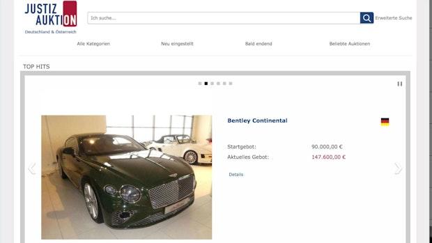 Windpark-Betrug: Bakumer Bentleys werden versteigert