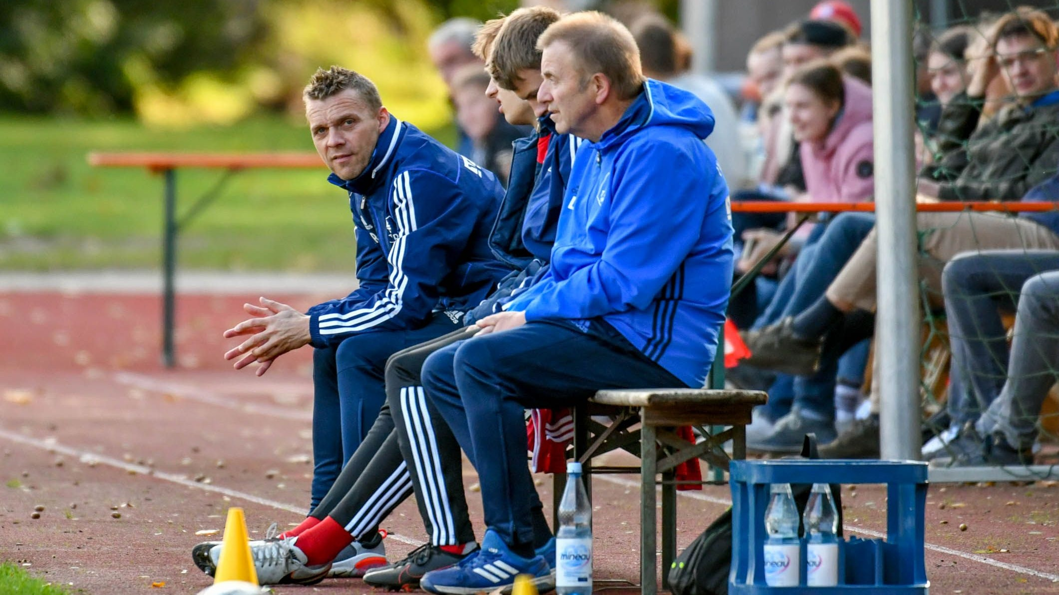 Gegen Melle geht's weiter: TVD-Coach Stefan Arlinghaus (links), hier beim Spiel gegen Union Lohne. Foto: Wenzel