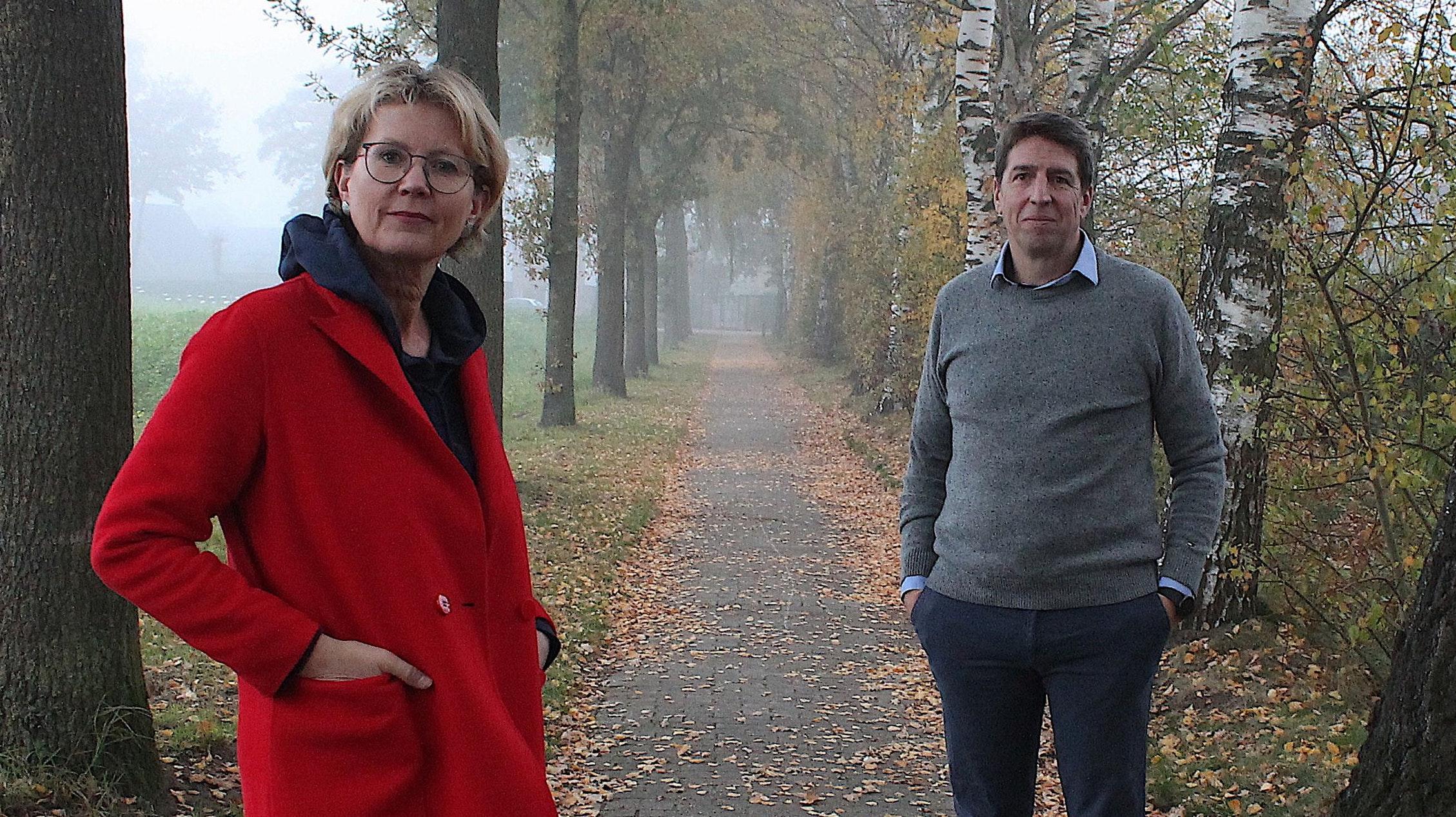 Auf dem richtigen Weg: Claudia Fischer und Stefan Wagner von Sports for Future. Foto: Wagner