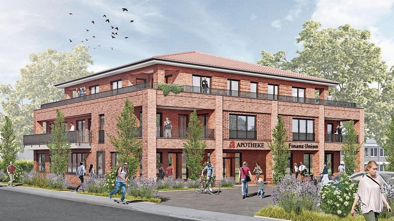 Künftiges Domizil: Der Bildungs-Campus wird in einem Neubau an der Kirchstraße untergebracht. ©Büro Ortmann