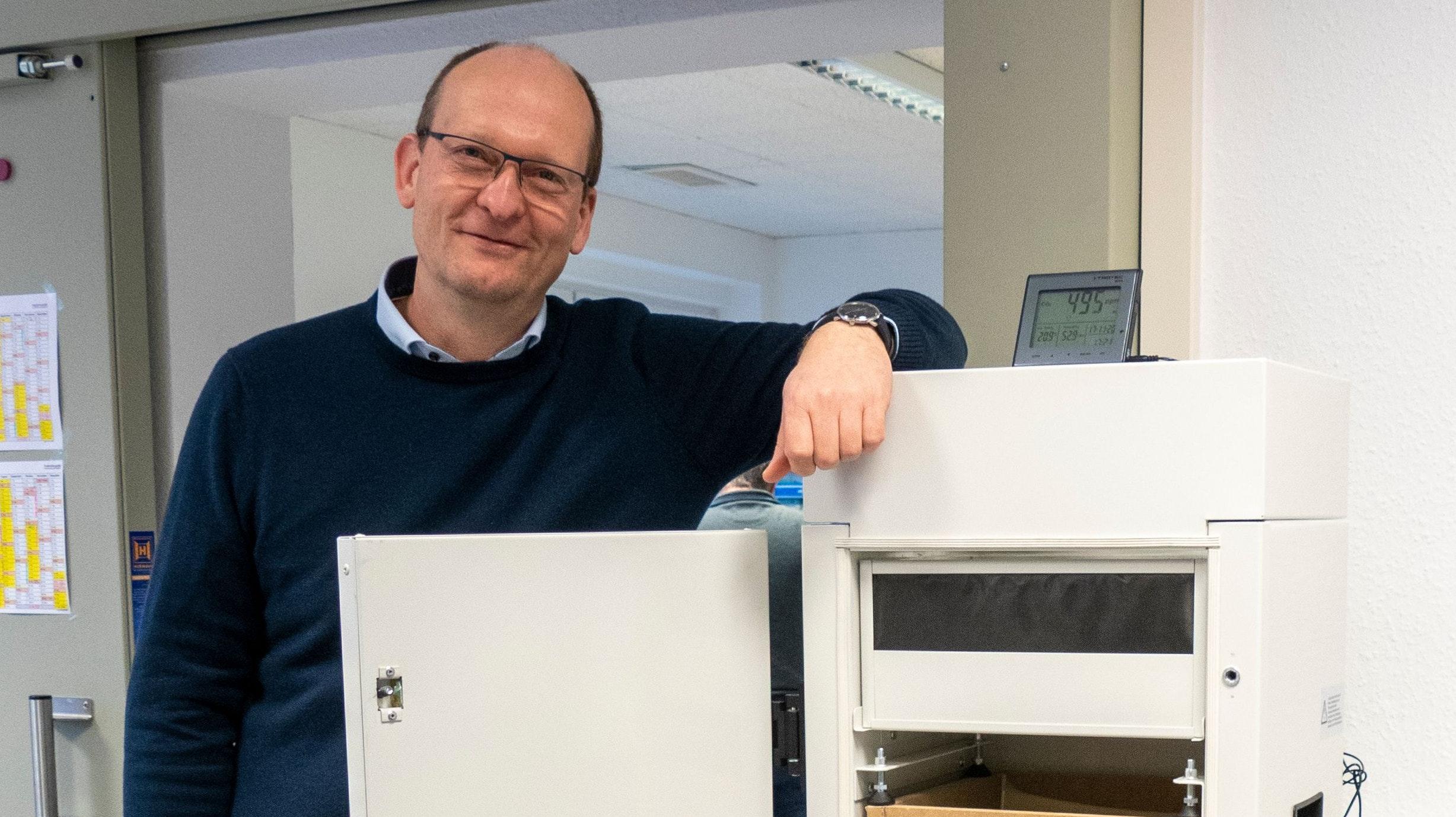 Im Interview:Ingenieur Dr. Matthias Lamping. Foto: Stix