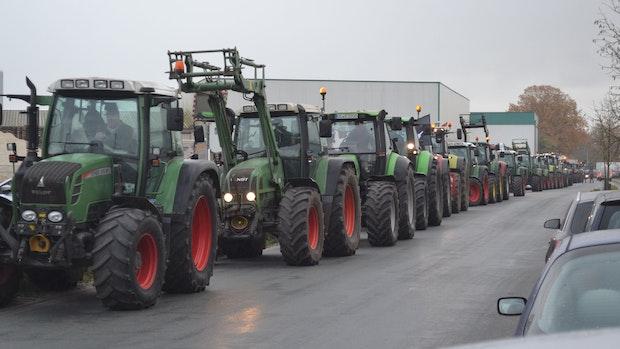 Treckerdemo in Garrel: Bauern fordern in höhere Fleischpreise