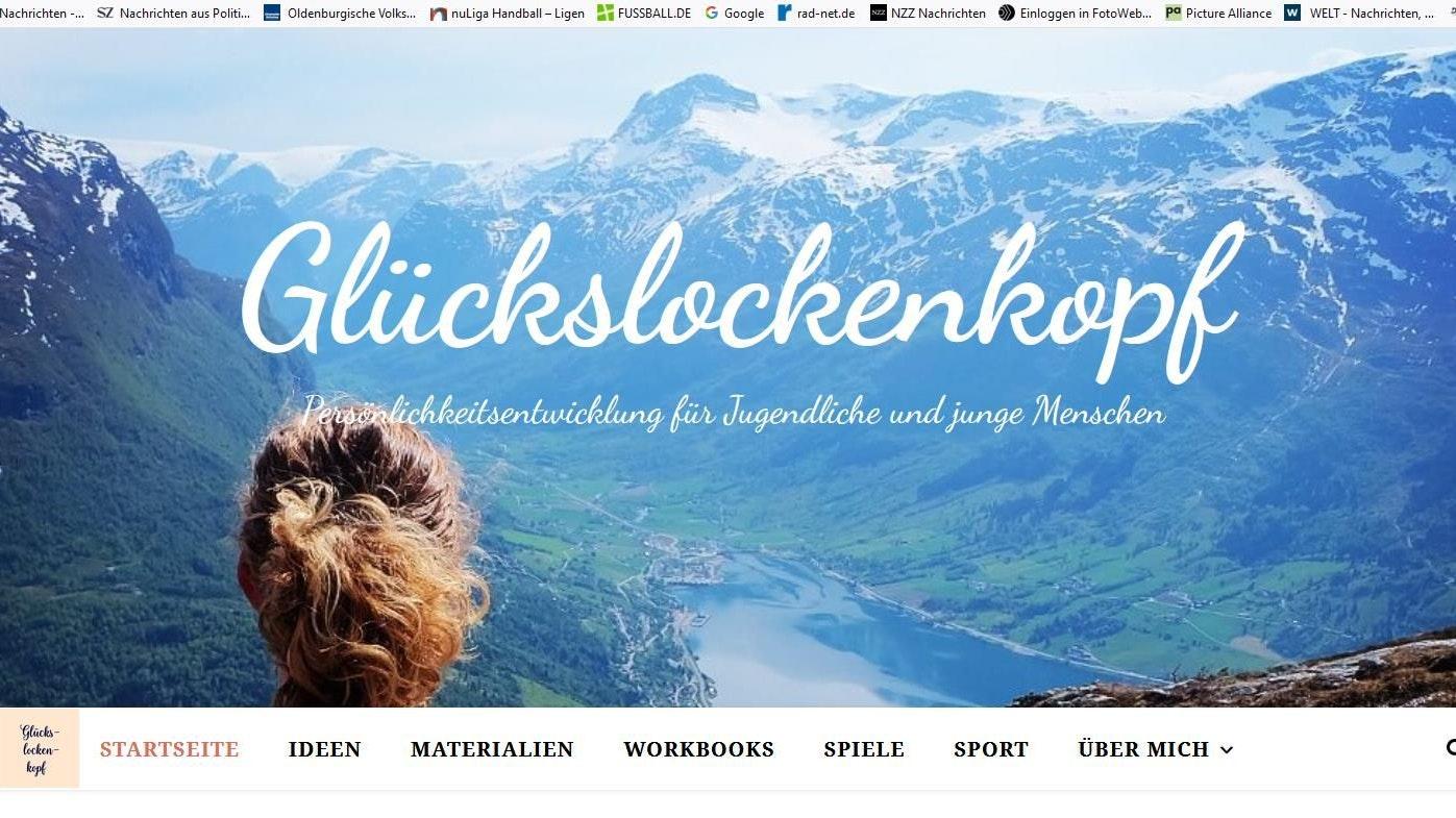 Glücksmoment: Auf der Startseite ihres Blogs blickt Elisabeth Lemke auf eine norwegische Fjordlandschaft. Foto: Lemke