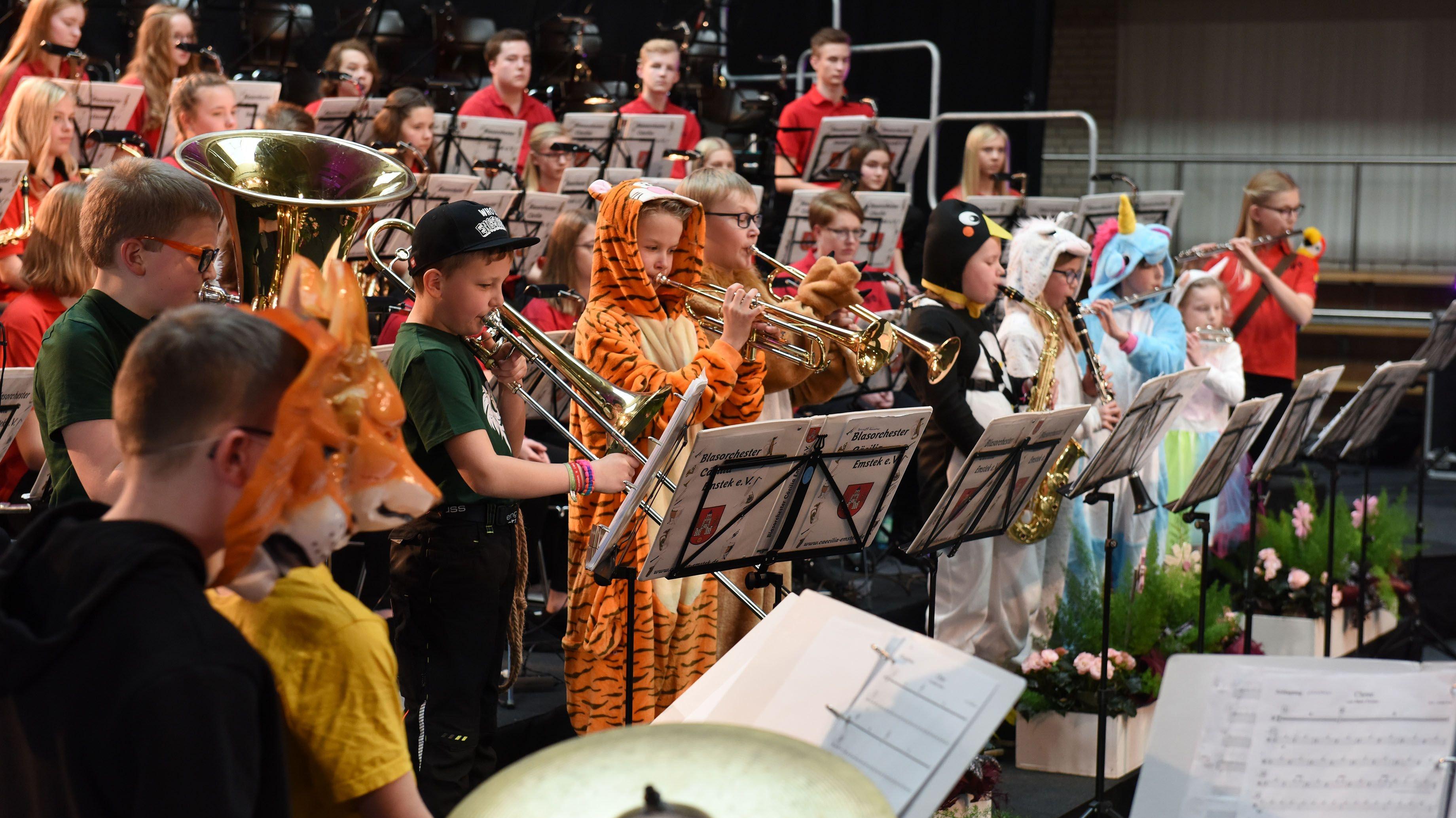 Erster Auftritt: Für das Vorstufenorchester ist es ein ganz besonderes Erlebnis, vor über 400 Zuhörern zu spielen. Archivfoto: Thomas Vorwerk