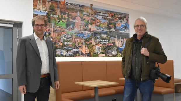 Handelslehranstalten: Wandbilder zeigen Vielfalt des Landkreises