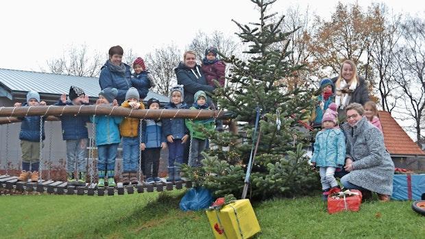 Wenn der Weihnachtsbaum draußen bleiben muss
