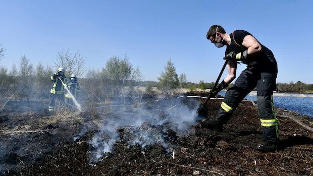 Großeinsatz im brennenden Moor dauert an