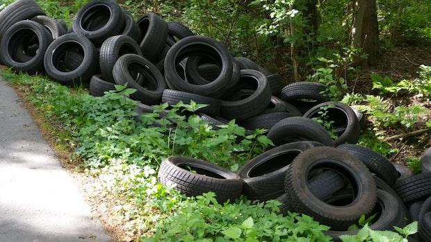 Reifen illegal in Steinfeld entsorgt