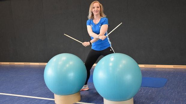 Trommeln und Lachen im Dienste der Fitness