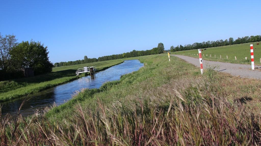 Über die Hunte gelangt das meiste Phosphat in den Dümmer. Ihr Wasser soll zukünftig durch einen Großschilfpolder fließen, der beim Schäferhof in Stemshorn entstehen soll. Foto: Lammert
