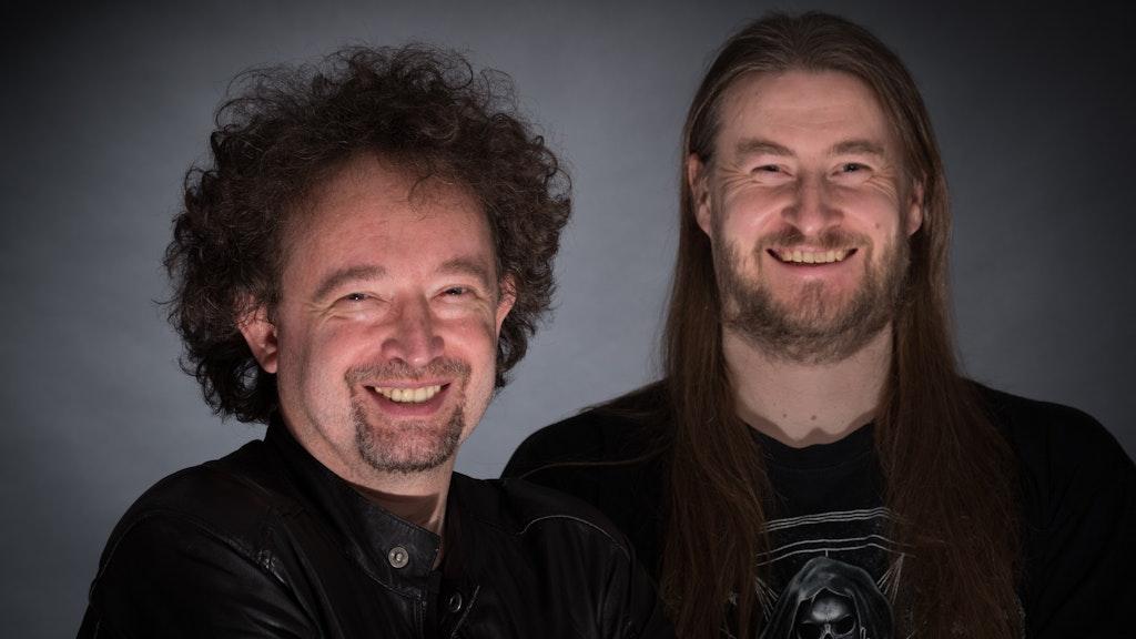 Die Autoren: Bernhard Hennen (links) und Robert Corvus. Foto: Gustav Kuhweide