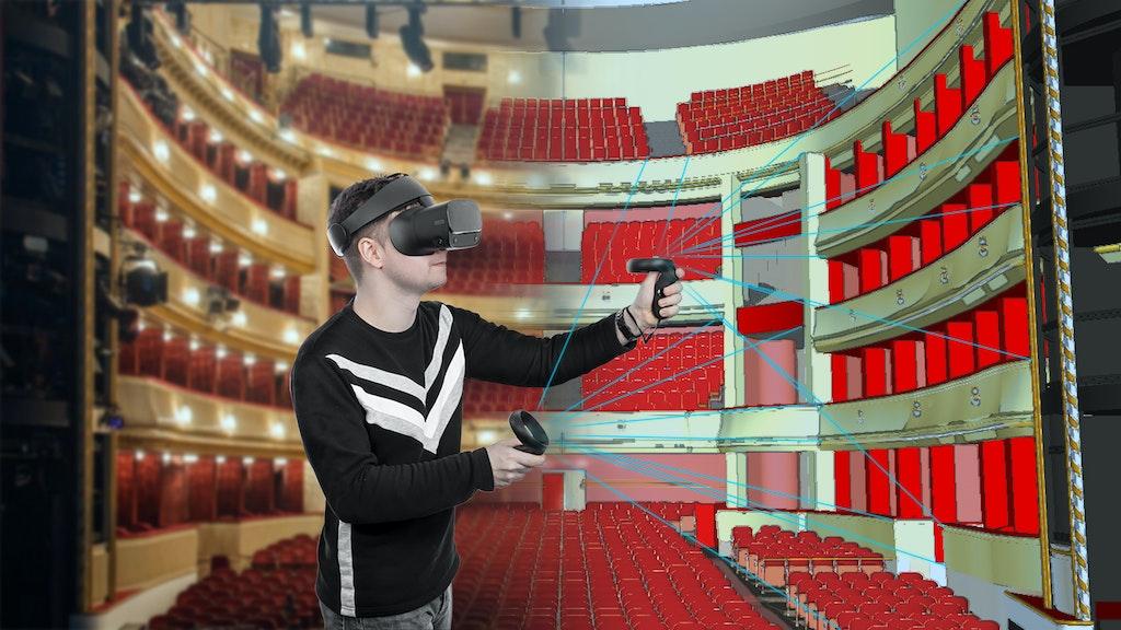 Während eines Praxissemesters am Burgtheater Wien wurde Vincent Kaufmann erstmals auf die Möglichkeiten der Virtual Reality aufmerksam. Er erstellte ein maßstabsgetreues 3D-Modell der Bühne und des Besucherraumes. Foto: Kaufmann