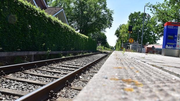 Als der Zug näher kam, wurde es ernst ...