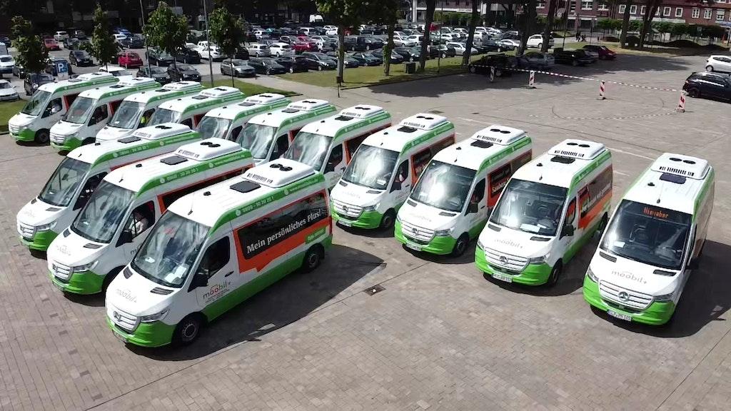 Pendeln ab Dienstag: Die neuen Rufbusse im Landkreis Cloppenburg. Foto: LandkreisRühl