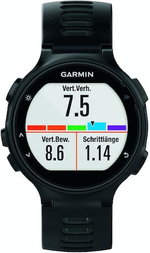 Die Sportuhr Garmin Forerunner 735XT liefert zahlreiche Daten zur Laufeffizienz und kann gleichzeitig als smarter Fitnesstracker im Alltag verwendet werden Foto: Hersteller