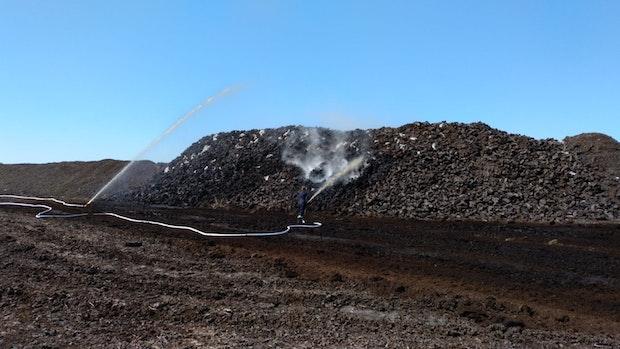 Moorbrand in Kroge