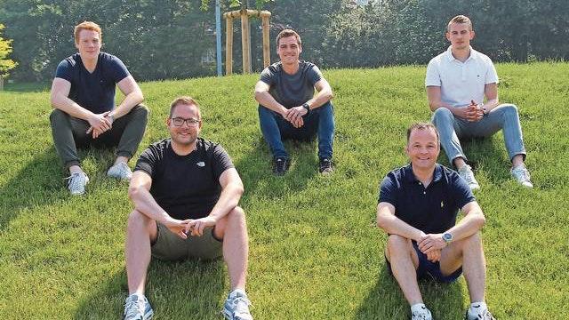 Die sportliche Leitung des JFV Cloppenburg (von links): Niklas Rolfes, Patrick Hocharzt, Tim Wiechert, Dirk Wichmann und Luca Scheibel. Foto: Horst Wevering