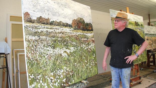 Bei Maler Helmut Helmes ist die Natur zum Greifen nahe