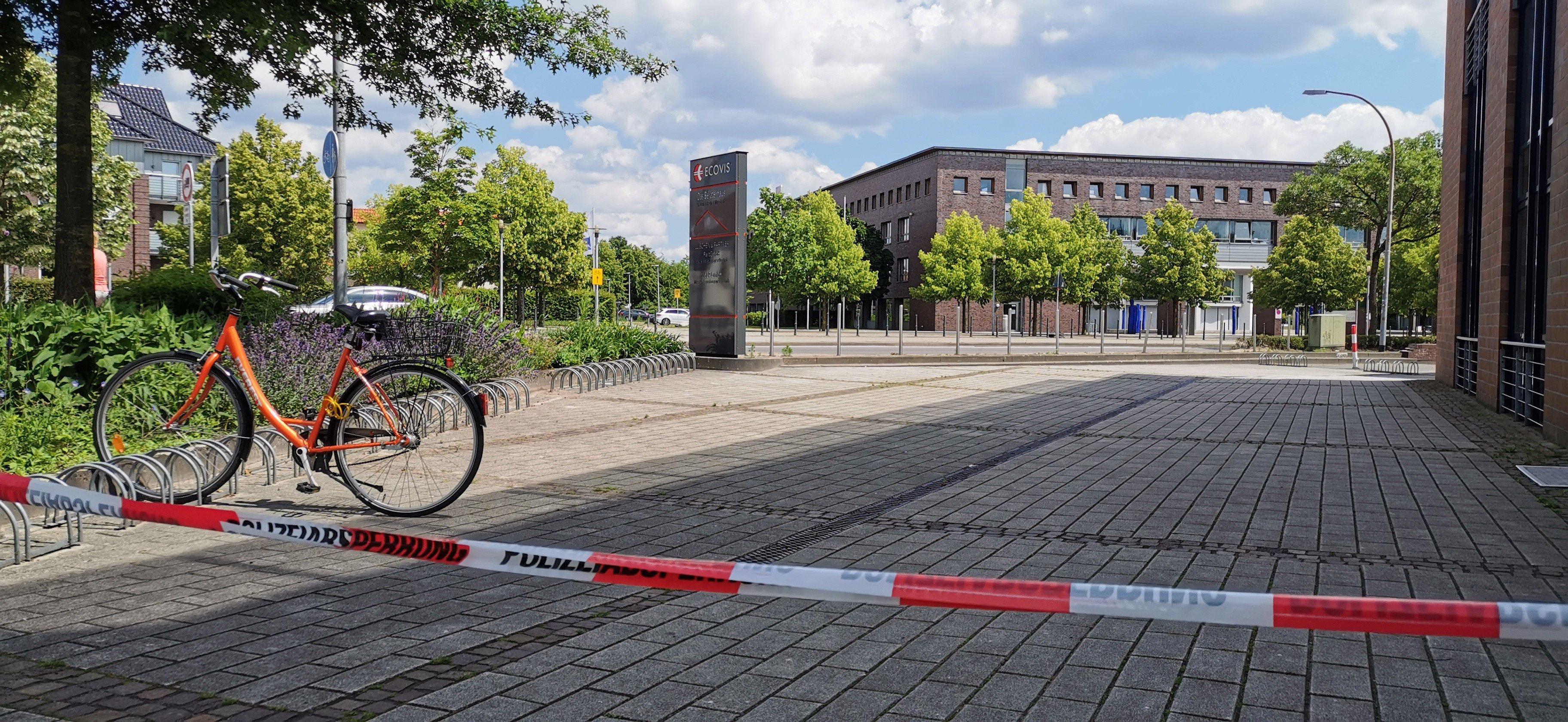Der Tatort in Vechta. Foto: Nordwestmedia-TV