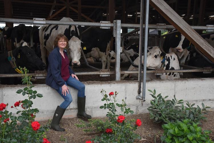 Mit Leib und Seele Landwirtin: Mechthild Heil aus Fladderlohausen. Foto: Böckmann