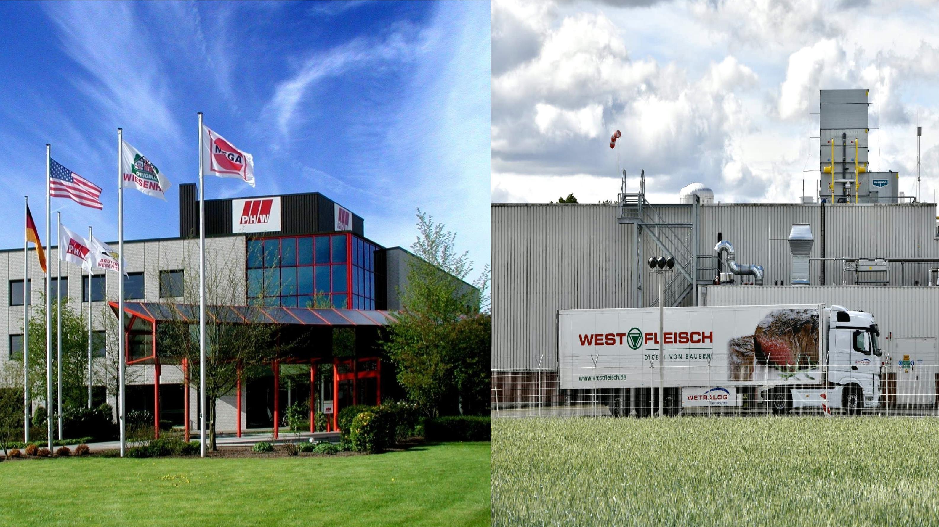Vor Veränderungen: Die PHW-Gruppe aus Rechterfeld (links) und der Standort Bakum von Westfleisch (rechts). Fotos: Archiv