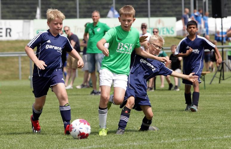 OM-Cup-Action: Hier eine Szene vom Turnier 2019 in Molbergen. Foto: Schikora