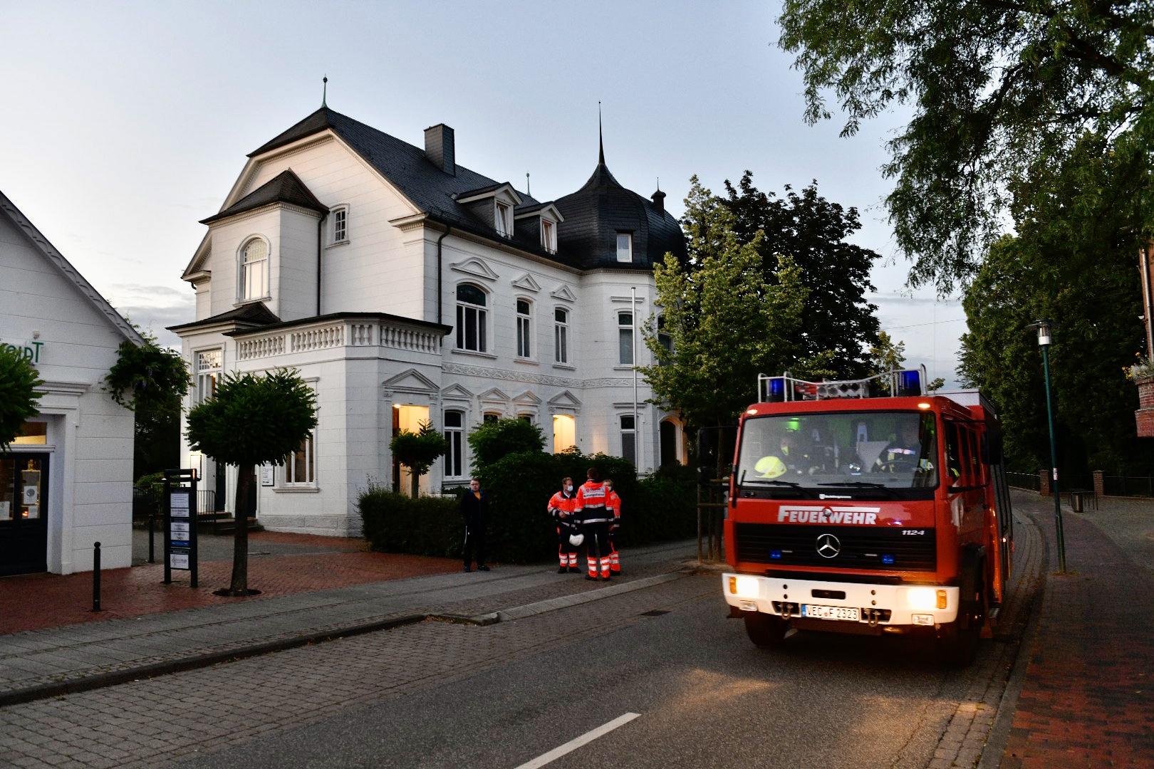 In einer Villa in Lohne brannte es. Foto: M. Niehues