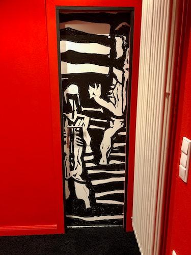 Im Entree begrüßen den Galeriebesucher Die drei Badenden von Egon Schiele. Foto: privat