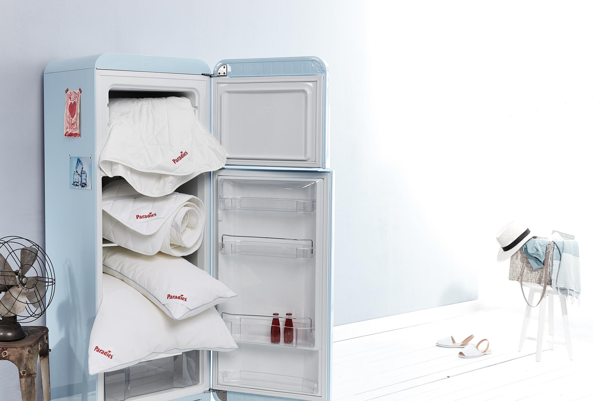 """Wie frisch aus dem Kühlschrank: Die innovative Bettwaren-Produktserie """"Cool Comfort"""" sichert in warmen Sommernächten herrlich aktiv kühlenden Schlaf. Foto: epr/Paradies GmbH"""