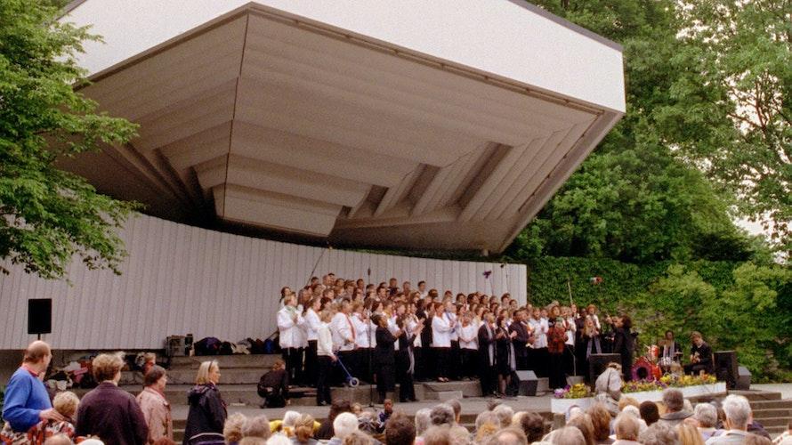 Mit Akustik: Diese Hamburger Konzertmuschel sorgt für guten Klang. In Vechta geht es sicherlich auch ein paar Nummern kleiner. Symbolbild: dpaSoulas