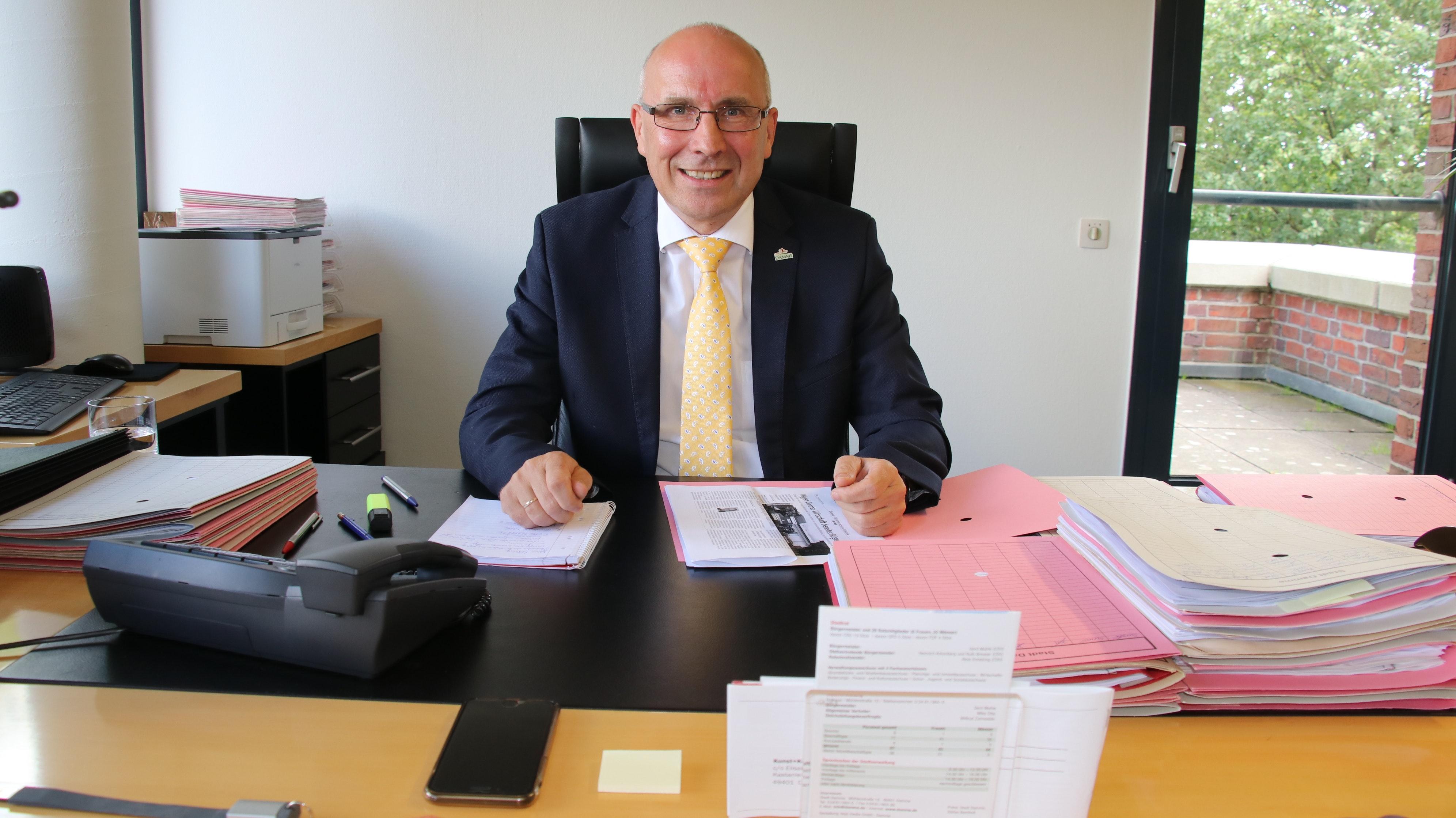 Die Entscheidung ist gefallen: Am 31. Oktober 2021 räumt Gerd Muhle sein Bürgermeisterbüro im Rathaus. Foto: Lammert
