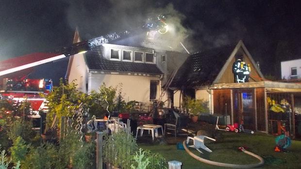 Einfamilienhaus brennt in Dinklage