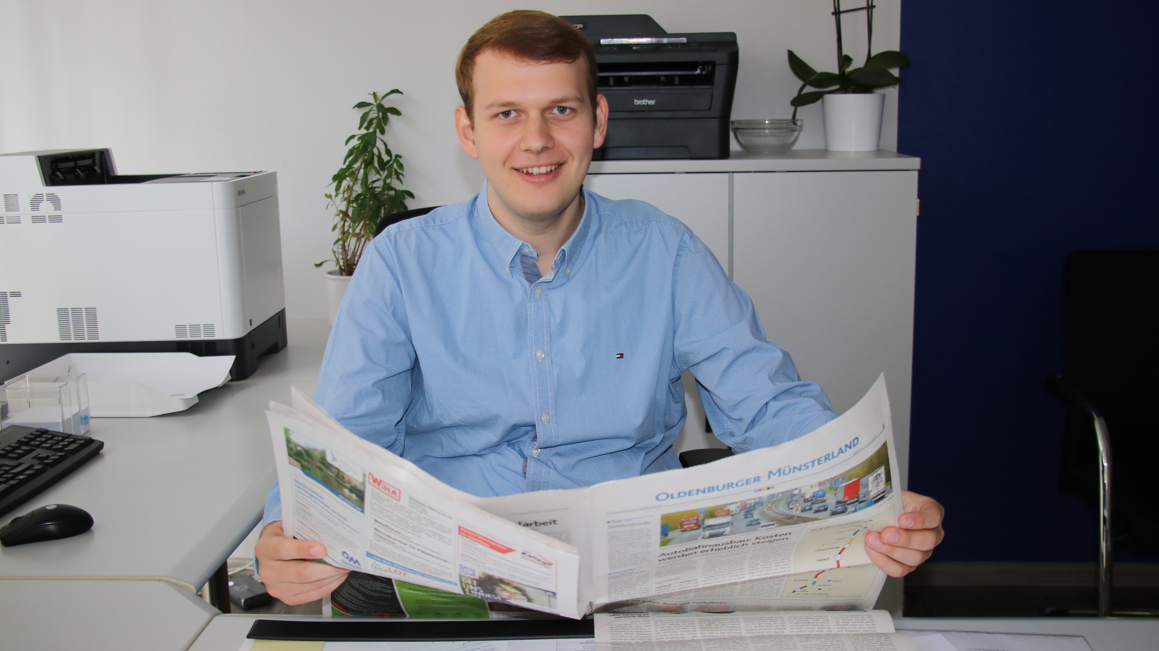 Auf Stimmenfang im Rheinland: Philipp Albrecht ist an verantwortlicher Stelle im Wahlkampf der CDU in Köln tätig. Er hofft am 13. September auf einen Stimmenzuwachs. Foto: Lammert