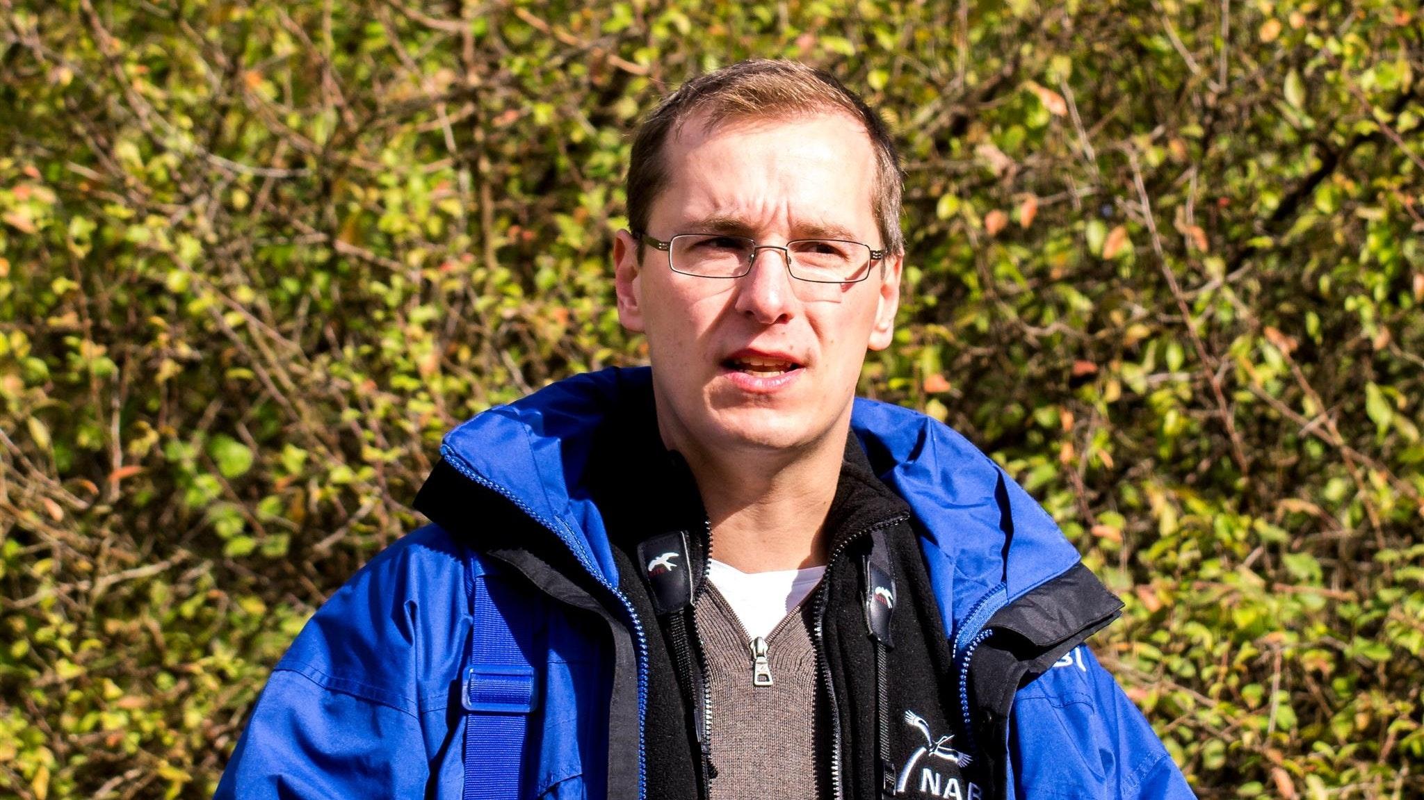 """Mitinitiator des """"Volksbegehrens Artenvielfalt"""": Dr. Nick Büscher, erster stellvertretender Landesvorsitzender des Naturschutzbundes (Nabu). Foto: Büscher/Nabu"""