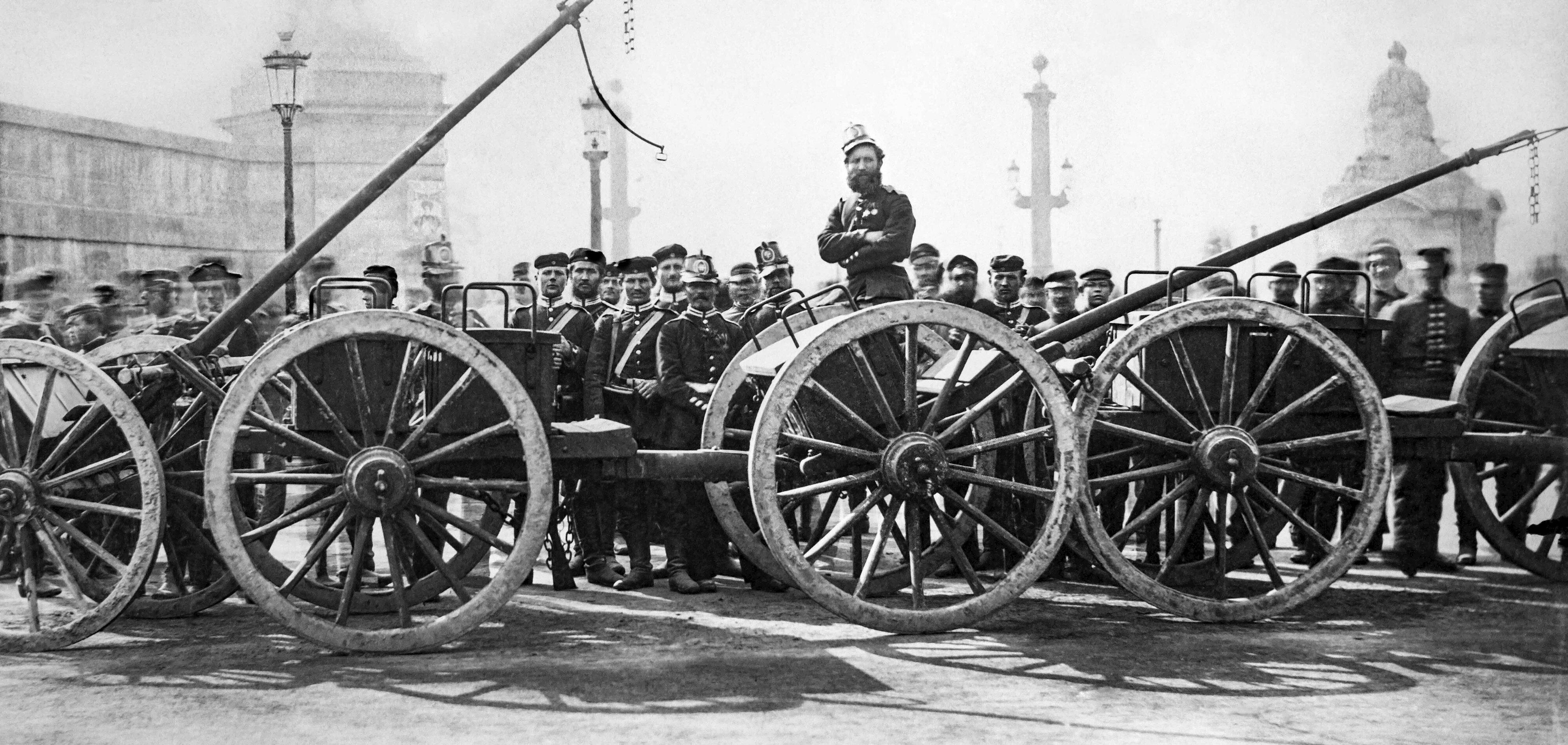 1. März 1871: Bayerische und preußische Truppen in Paris. Quelle: Polizeipräfektur Paris