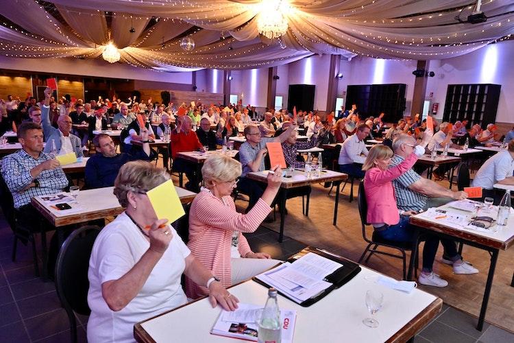 Votierten mehrheitlich für den Erlter Wirtschaftsingenieur: Die CDU-Mitglieder des Kreisverbandes Vechta. Foto: M. Niehues