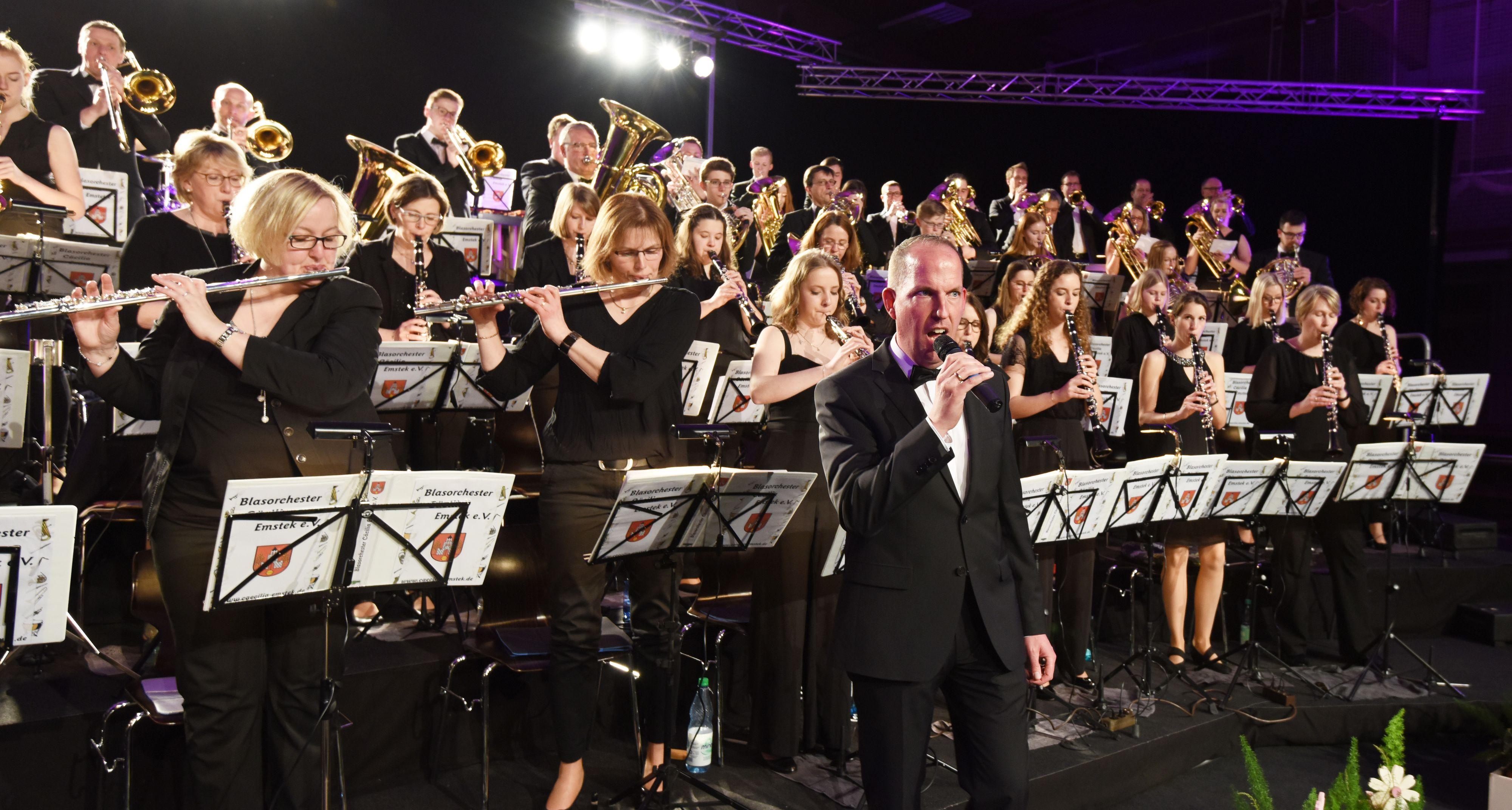 Großer Auftritt: Das Jahreskonzert des Blasorchesters Emstek fiel als eine der ersten Veranstaltungen im März wegen der Corona-Pandemie aus. Entsprechend gab es auch keine Einnahmen. Archivfoto: Thomas Vorwerk