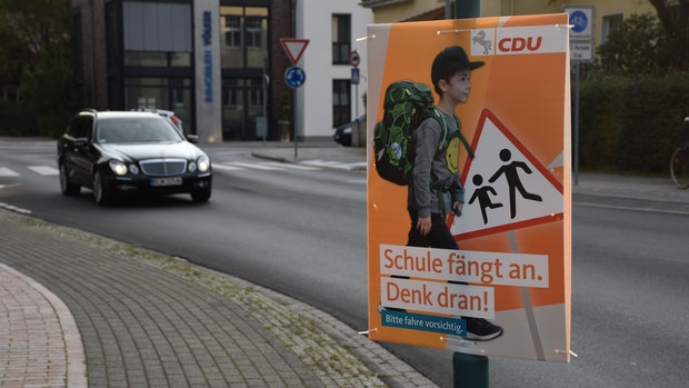 Posse um CDU-Plakate zum Schulstart