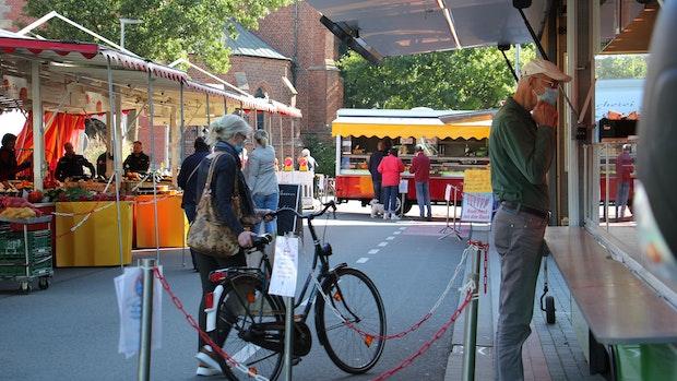Wochenmarkt bleibt in der Bahnhofstraße