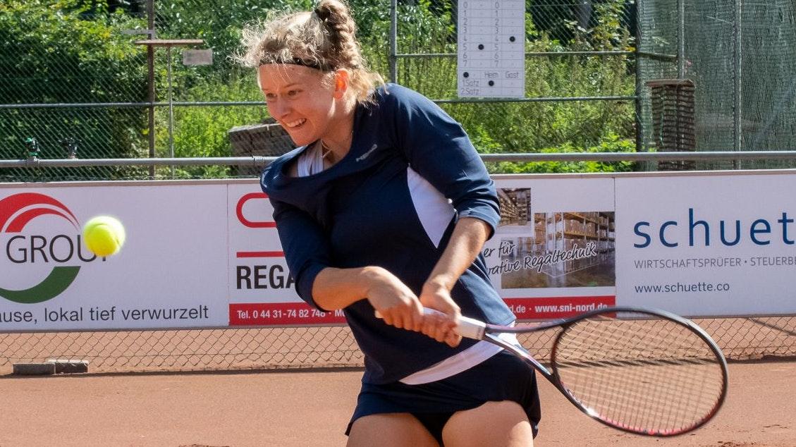 Zurück auf der ITF-Juniors-Tour: Julia Middendorf (17) vom TV Visbek. Foto: Becker