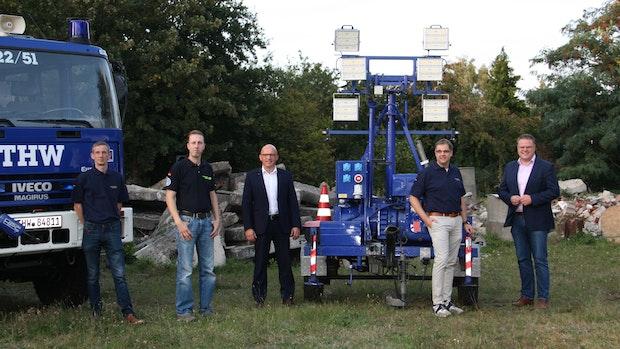 Technisches Hilfswerk Lohne leuchtet jetzt mit LED aus