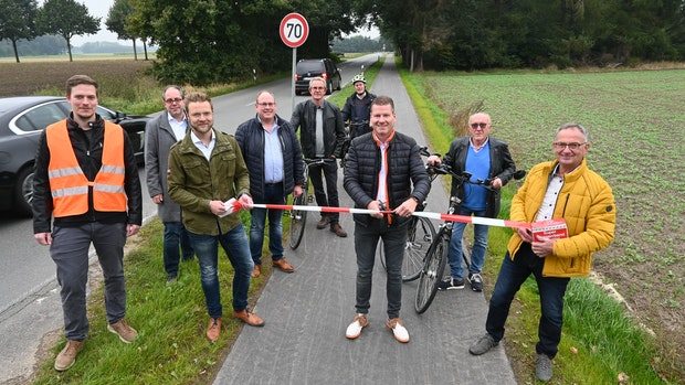 Zwei Kilometer mehr Sicherheit für Radler