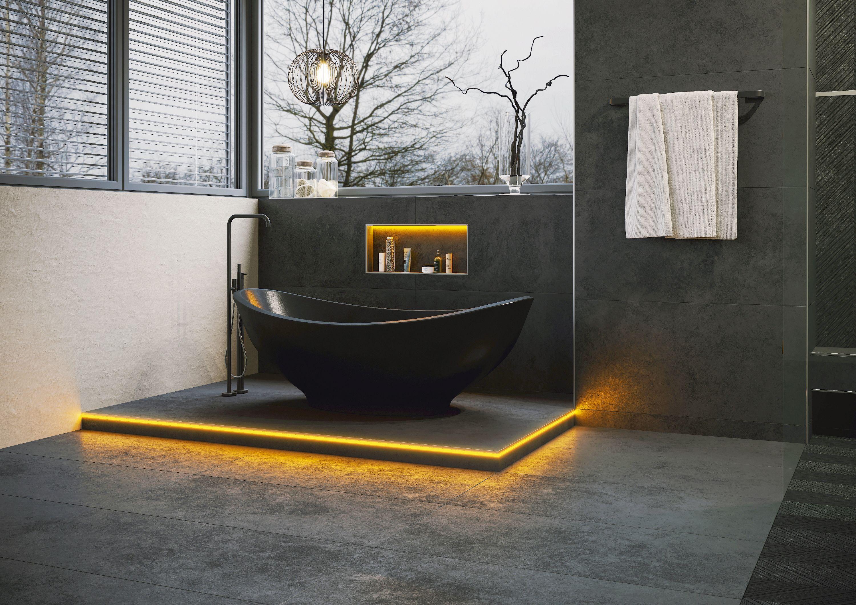 Mit den LIPROTEC-EASY LED-Modulen von Schlüter-Systems lassen sich Räume individuell mit Licht gestalten. Foto: epr/Schlüter-Systems