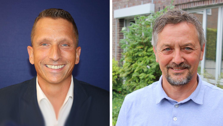 Mike Otte (links) undFrank Hörnschemeyer haben den Hut in den Ring geworfen. Fotos: Lammert