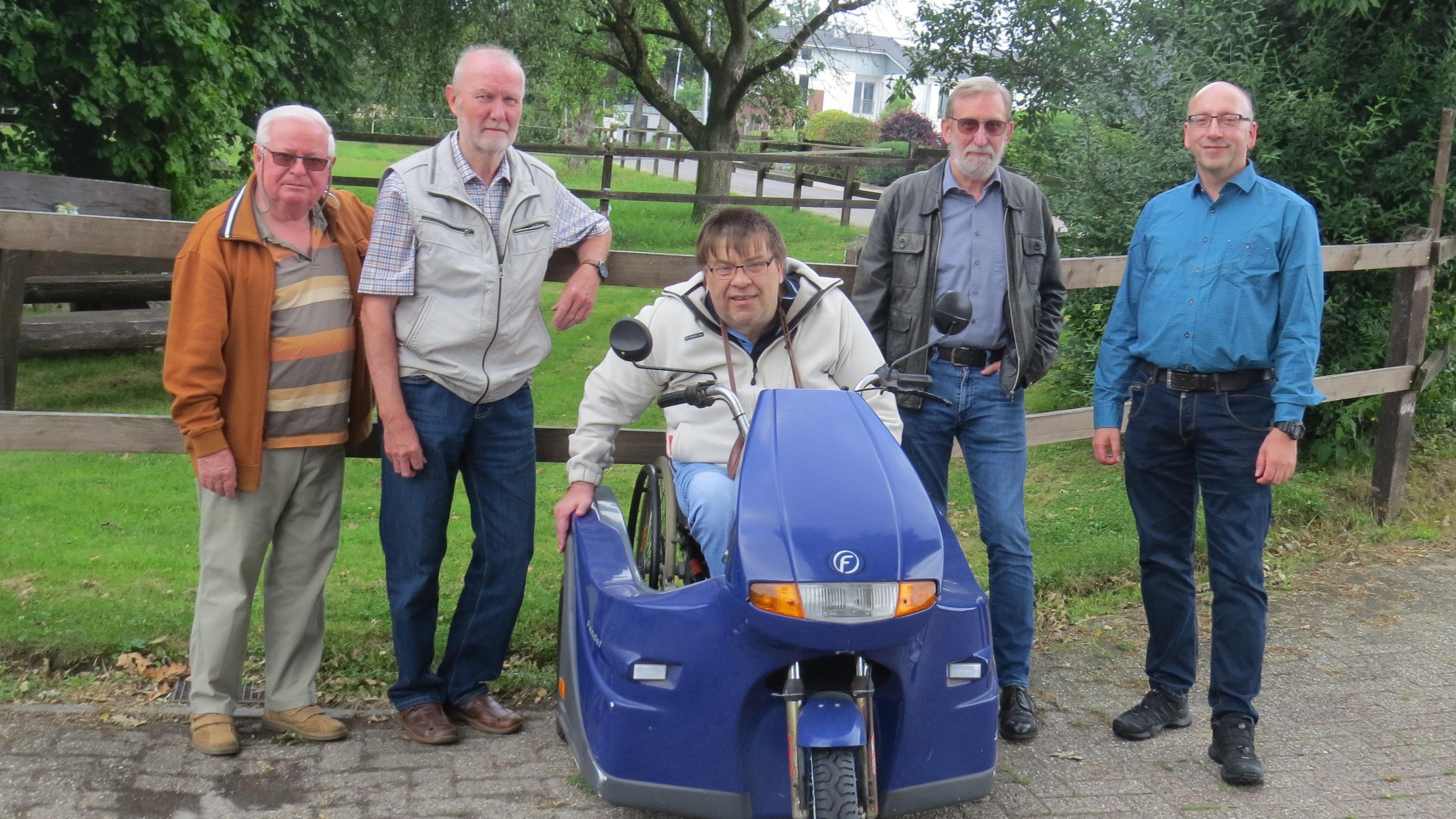 Vorstandsmitglieder bleiben im Amt: (von links) Hans-Ulrich Thoma, Georg Schilmöller, Ludger Jankowski, August Penzel und Martin Rohe. Foto: privat