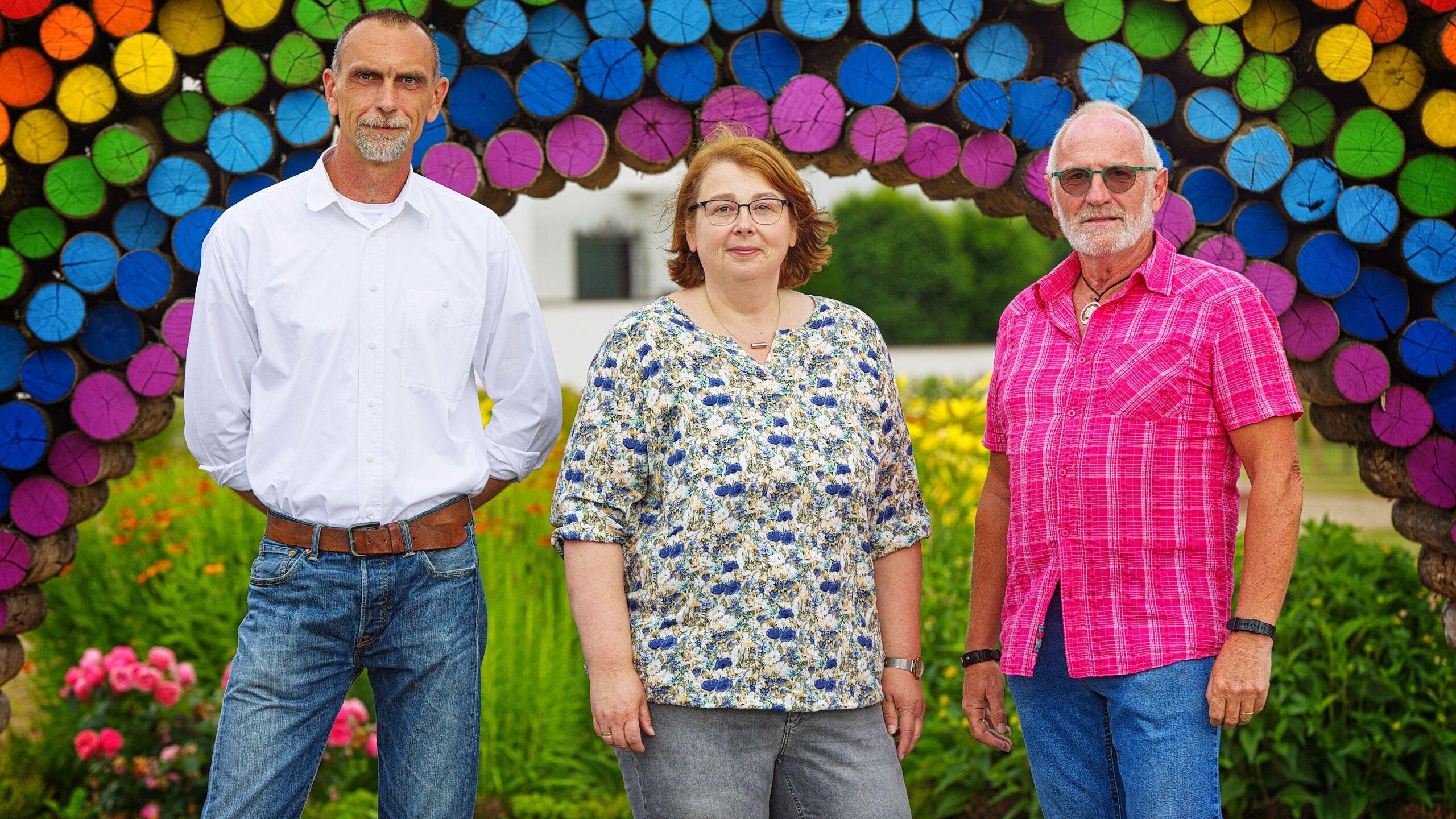 Wollen in den Stadtrat: (von links) Dietmar Südkamp, Yvonne Burke und Heinz Robben. Foto: SPD Lindern