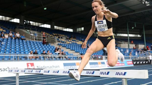 Lea Meyer und ihr bislang größtes Rennen