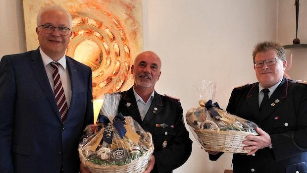 Hohe Auszeichnung: Friedrich Dortelmann zum Ehrengemeindebrandmeister ernannt